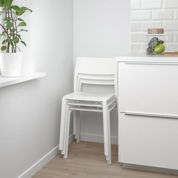 JANINGE Eetkamerstoel, wit