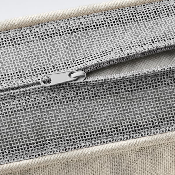 JÄRPÖN/DUVHOLMEN Rugkussen, buiten, wit, 62x44 cm