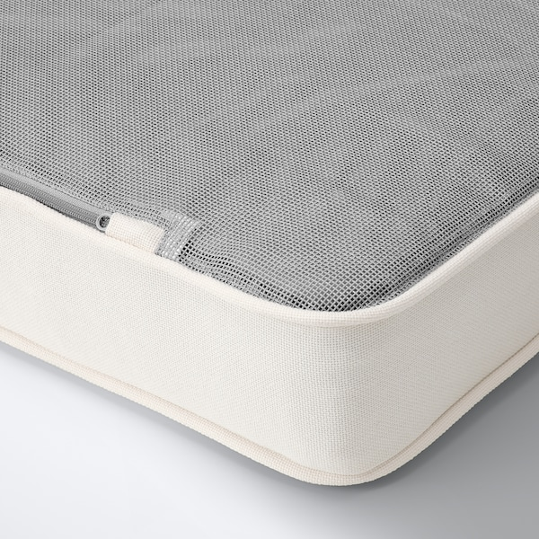 JÄRPÖN/DUVHOLMEN Tuinkussen, wit, 62x62 cm