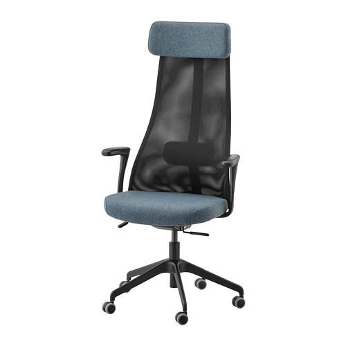 Bureaustoel Blauw Zwart.Jarvfjallet Bureaustoel Met Armleuningen Gunnared Blauw Zwart