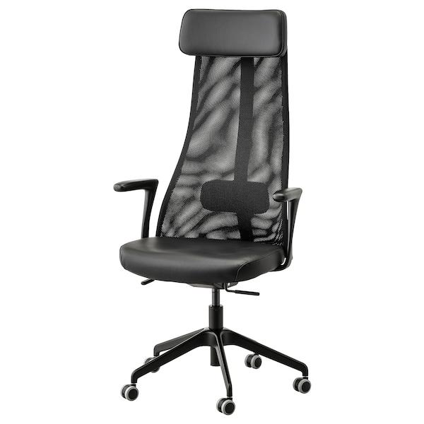 JÄRVFJÄLLET Bureaustoel met armleuningen, Glose zwart