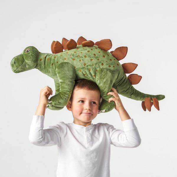 JÄTTELIK Pluchen speelgoed, dinosaurus/dinosaurus/stegosaurus, 75 cm