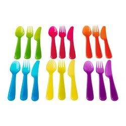 plastic/kunststoffen bestek in diverse felle kleuren
