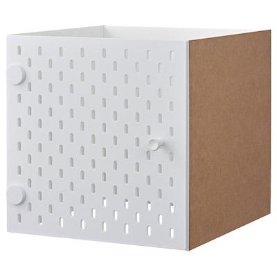 KALLAX Inzet met ophangbord, wit, 33x33 cm