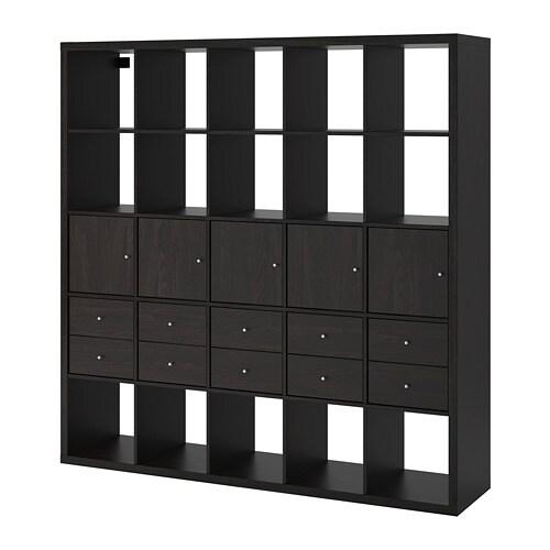 Ikea Expedit Boekenkast Zwart Bruin.Kallax Open Kast Met 10 Inzetten Zwartbruin Ikea