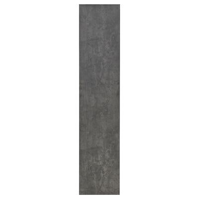 KALLVIKEN Deur, donkergrijs betonpatroon, 50x229 cm