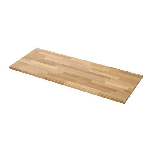 KARLBY Werkblad , beuken Lengte: 186 cm Diepte: 63.5 cm Dikte: 3.8 cm