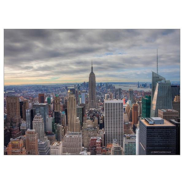 KATEBO afbeelding zonder lijst New York/polystyreen 70 cm 50 cm