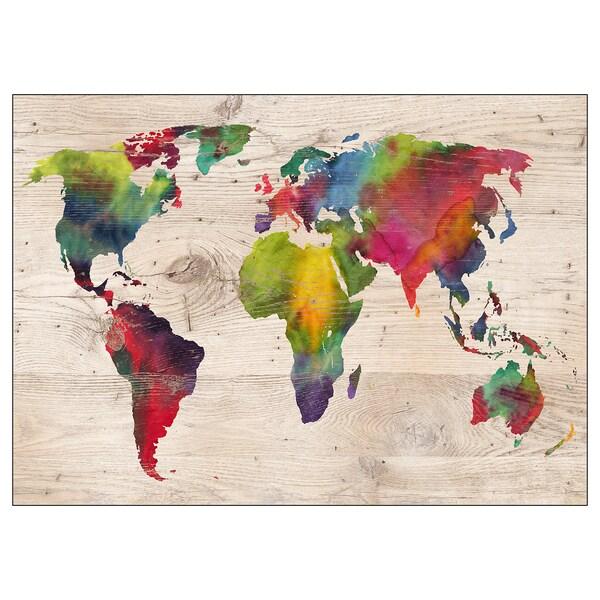 KATEBO afbeelding zonder lijst Wereld van kleuren/polystyreen 70 cm 50 cm
