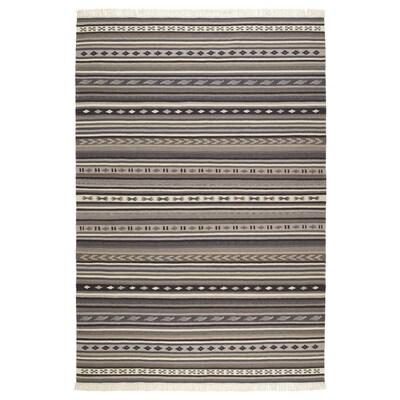 KATTRUP Vloerkleed, glad geweven, handgemaakt grijs, 140x200 cm