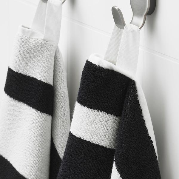 KINNEN Handdoek, zwart/wit, 50x100 cm