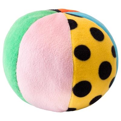 KLAPPA pluchen speelgoed bal veelkleurig 12 cm