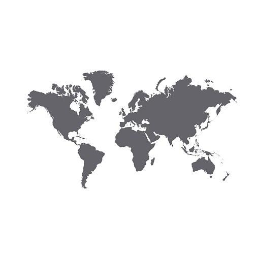 Muursticker Wereldkaart Krijt.Klatta Zelfklevende Decoratie Ikea