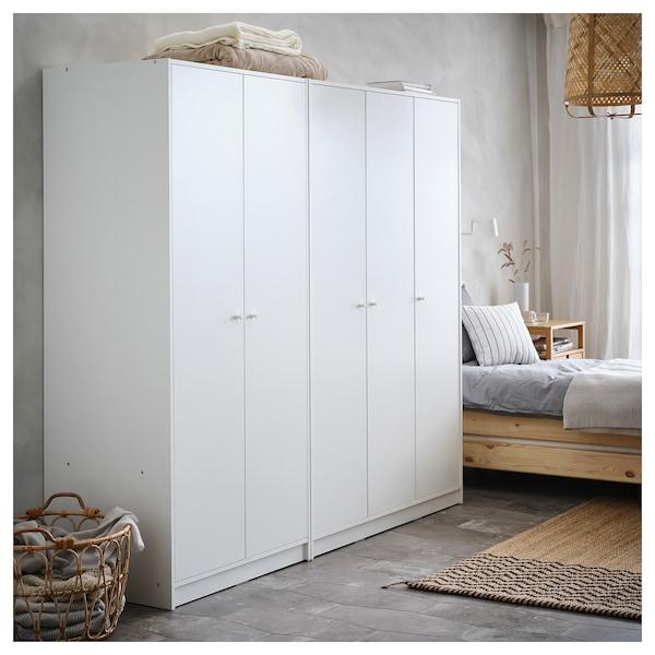 KLEPPSTAD Kledingkast met 3 deuren, wit, 117x176 cm