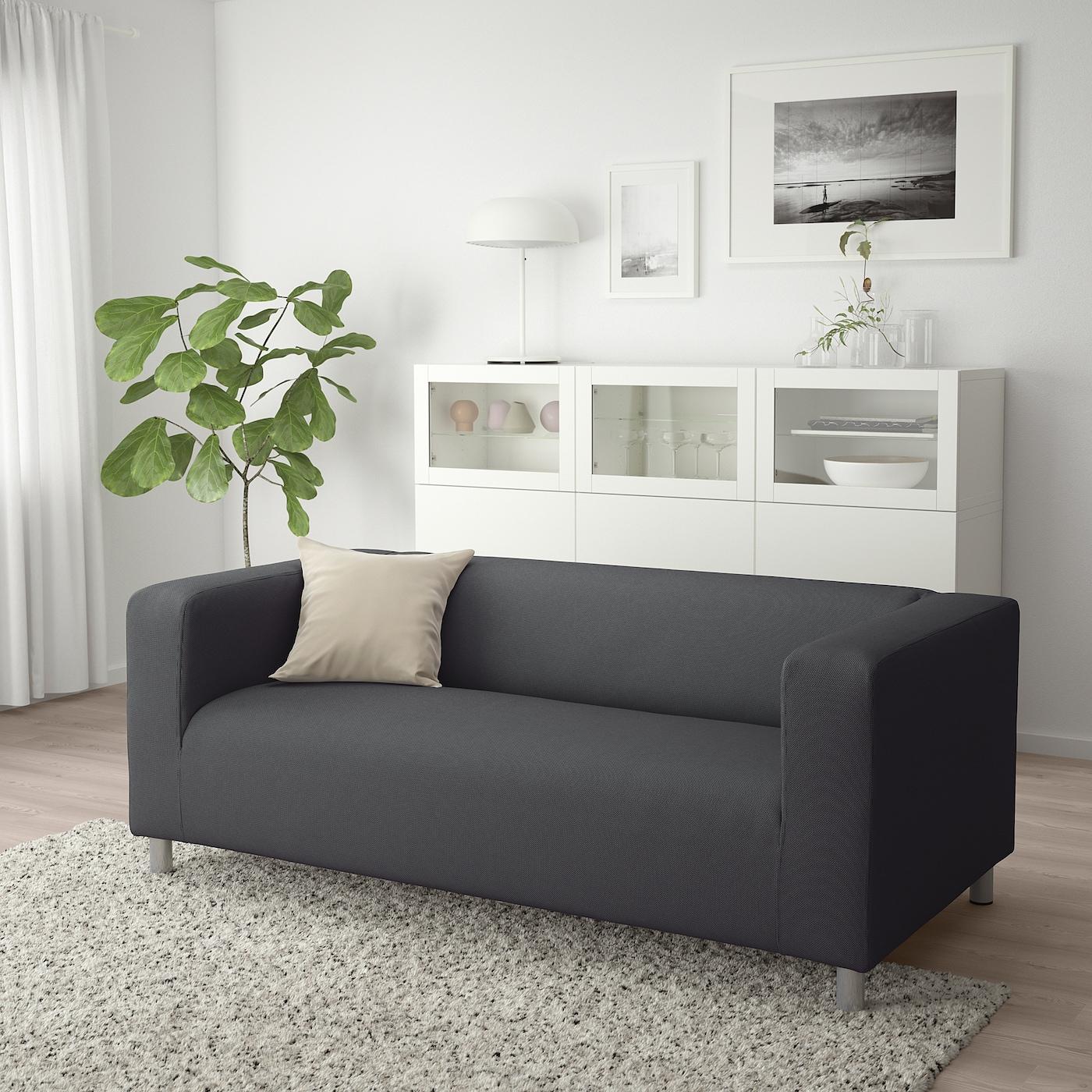 Leren Klippan Bank Ikea.Klippan 2 Zitsbank Vissle Grijs Ikea