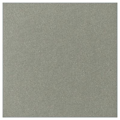 KLUBBUKT Deur, grijsgroen, 40x40 cm