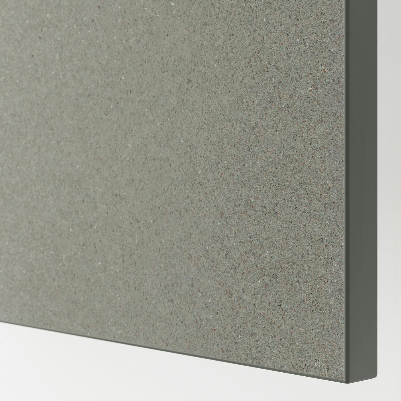 KLUBBUKT Deur met scharnieren, grijsgroen, 60x180 cm