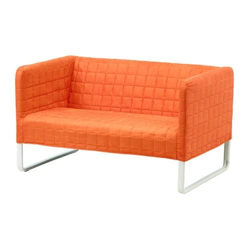 knopparp 2 zitsbank oranje ikea. Black Bedroom Furniture Sets. Home Design Ideas