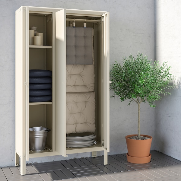 KOLBJÖRN Kast binnen/buiten, beige, 90x161 cm