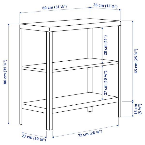 KOLBJÖRN Open kast binnen/buiten, beige, 80x81 cm