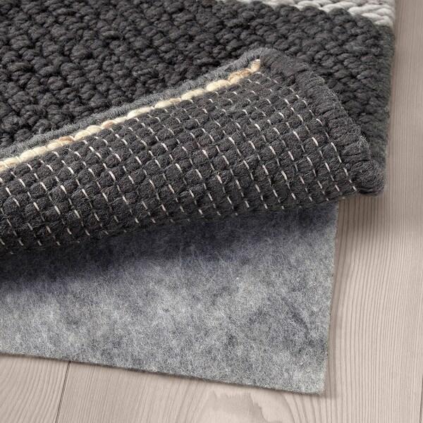 KOLLUND Vloerkleed, glad geweven, handgemaakt grijs, 170x240 cm