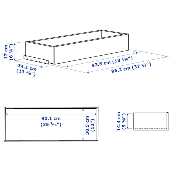 KOMPLEMENT Lade, wit, 100x35 cm