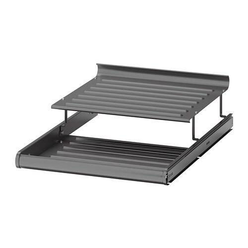 Uitschuifbaar Metalen Schoenenrek.Komplement Uittrekbaar Schoenenrek Donkergrijs 50x58 Cm Ikea