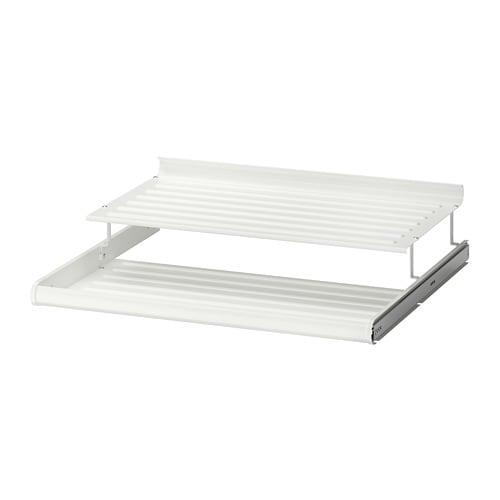 Schoenenrek Wit Metaal.Komplement Uittrekbaar Schoenenrek Wit 75x58 Cm Ikea