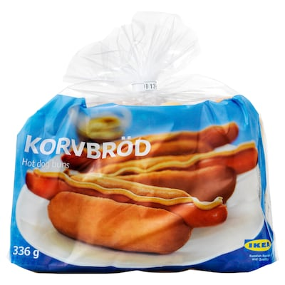 KORVBRÖD Hot dog brood, diepvries