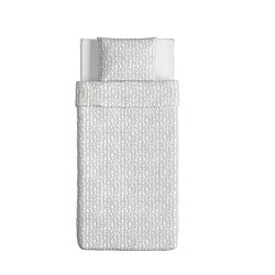 KRÅKRIS Dekbedovertrek met 1 sloop, grijs/wit
