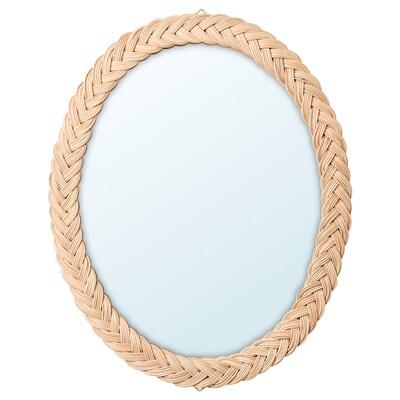KRISTINELUND Spiegel, rotan, 61x50 cm