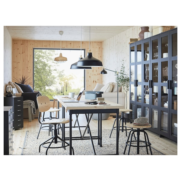 KULLABERG Bureaustoel, grenen/zwart