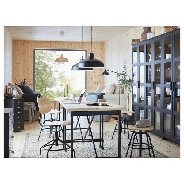 KULLABERG bureau grenen/zwart 110 cm 70 cm 75 cm 50 kg