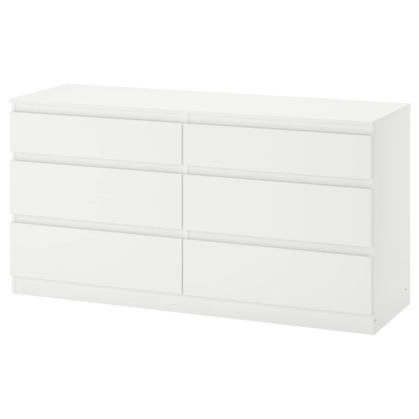 IKEA - KULLEN Ladekast met 6 lades - 140x72 cm - Wit