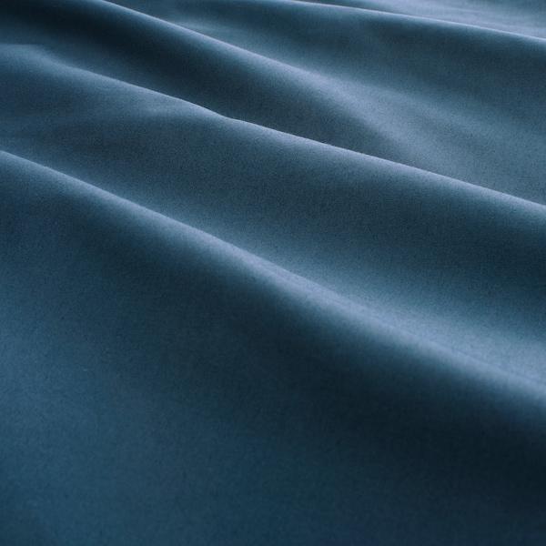 KUNGSBLOMMA Dekbedovertrek en 2 kussenslopen, donkerblauw/wit, 240x220/60x70 cm