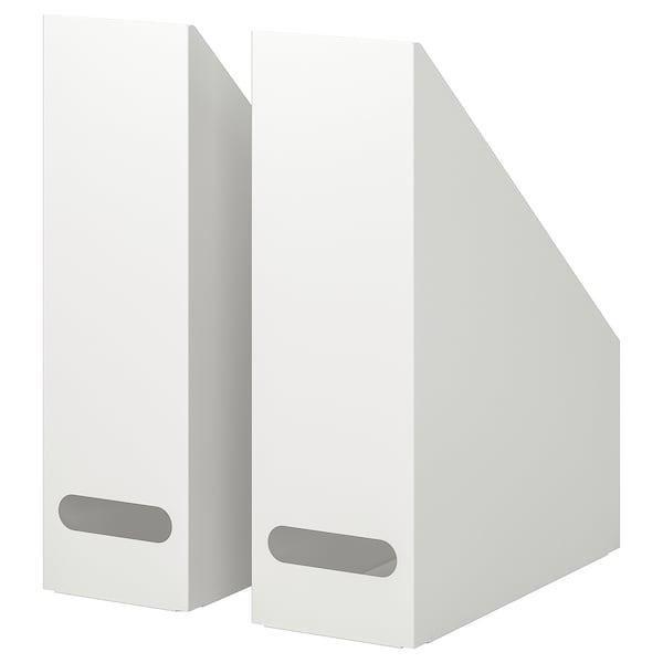 KVISSLE Lectuurbak set van 2, wit