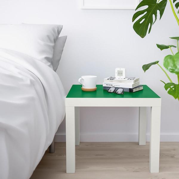 LACK Tafeltje, wit/groen, 55x55 cm