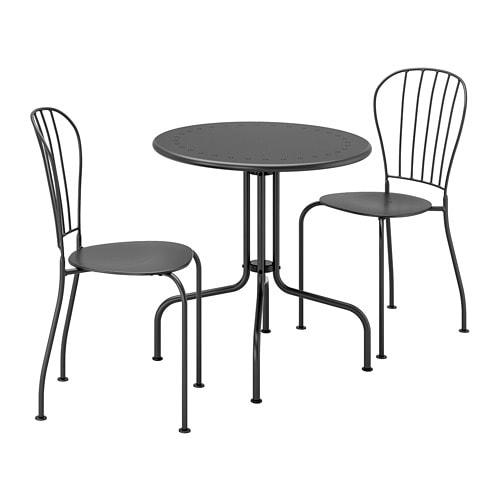 Eettafel En Stoelen Ikea.Lacko Tafel 2 Stoelen Buiten Grijs