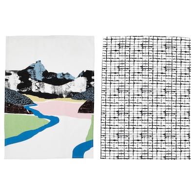 LACKTICKA Theedoek, landschap/met een patroon, 50x70 cm