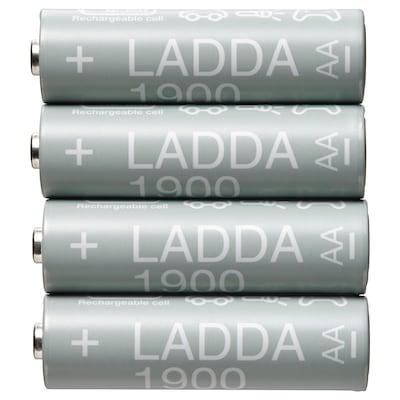 LADDA Oplaadbare batterij, HR06 AA 1.2V, 1900mAh