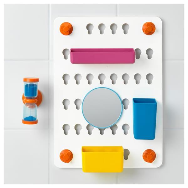 LÅDDAN Ophangbord, 6-delig, met zuignappen/gemengde kleuren