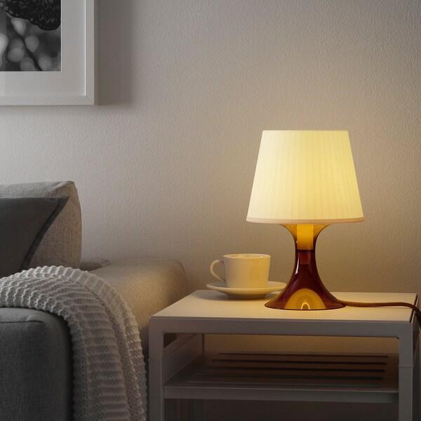 LAMPAN Tafellamp, bruin, 29 cm