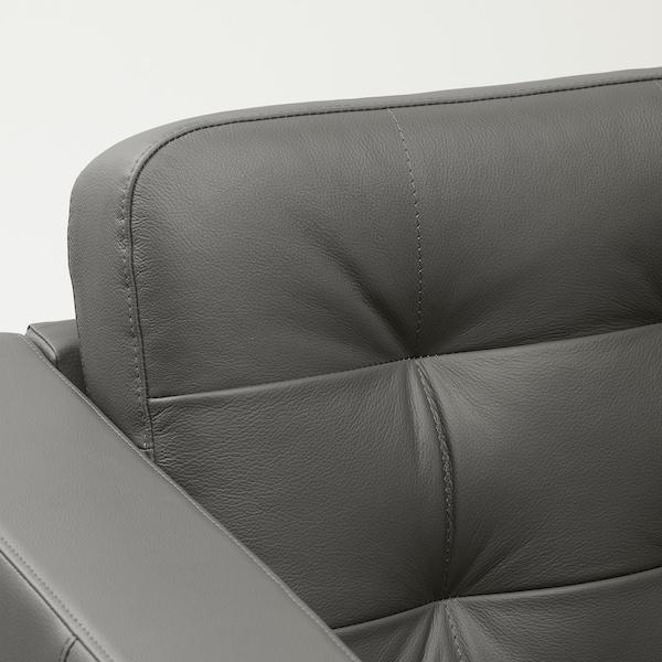 LANDSKRONA hoekbank, 6-zits met chaise longue/Grann/Bomstad grijsgroen/hout 89 cm 78 cm 359 cm 241 cm 61 cm 44 cm
