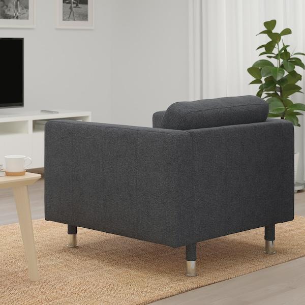 LANDSKRONA Fauteuil Gunnared donkergrijsmetaal IKEA