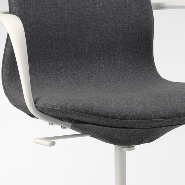 LÅNGFJÄLL bureaustoel met armleuningen Gunnared donkergrijs/wit 110 kg 68 cm 68 cm 104 cm 53 cm 41 cm 43 cm 53 cm