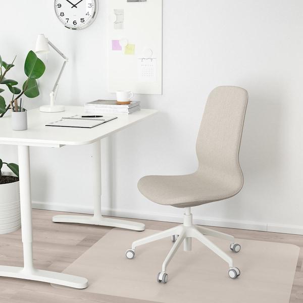 LÅNGFJÄLL Bureaustoel, Gunnared beige/wit