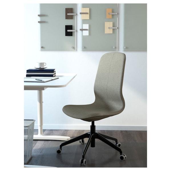LÅNGFJÄLL Bureaustoel, Gunnared lichtgroen/zwart
