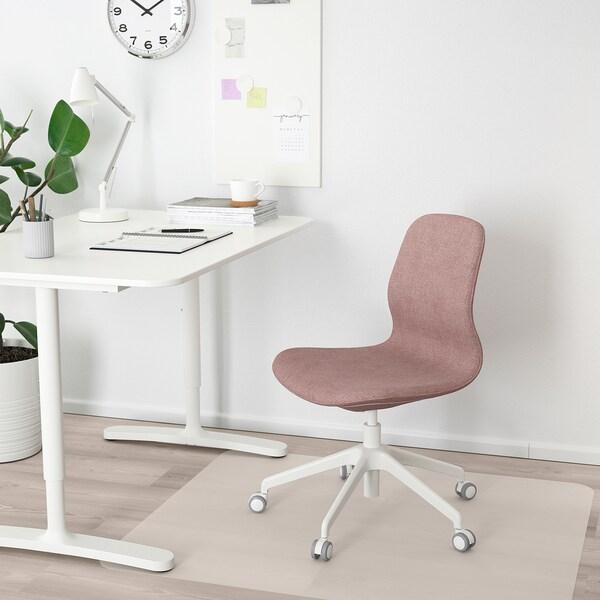 LÅNGFJÄLL Bureaustoel, Gunnared oudroze/wit