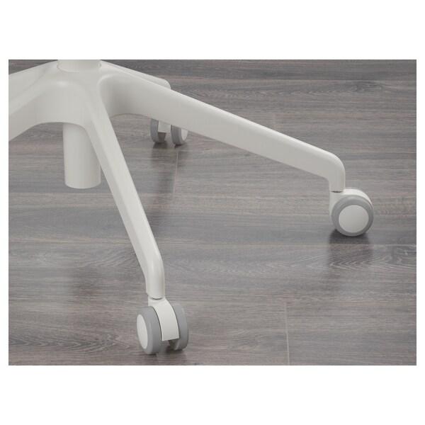 LÅNGFJÄLL Bureaustoel met armleuningen, Gunnared lichtgroen/wit