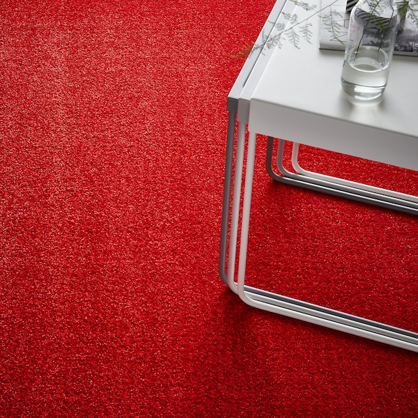 LANGSTED vloerkleed, laagpolig rood 195 cm 133 cm 13 mm 2.59 m² 2500 g/m² 1030 g/m² 9 mm